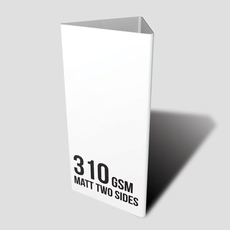 310gsm Matt Two Sided Table Talker