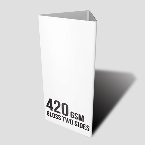 420gsm Gloss Two Sides Table Talker